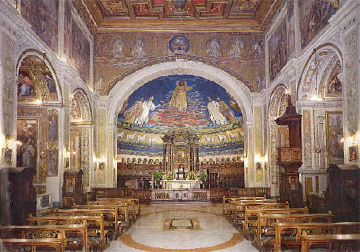 Interior of the Basilica in Rome.