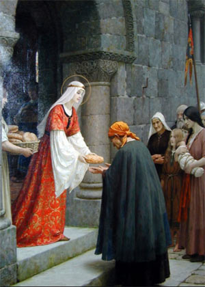 The Charity of St. Elizabeth of Hungary by Edmund Blair Leighton (1853-1922)