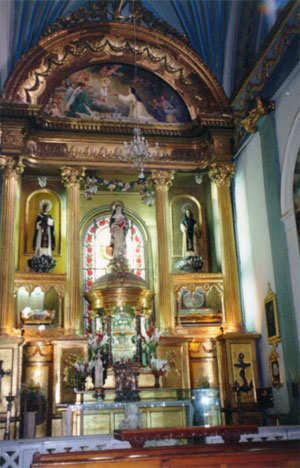 Reliquary and Statues at Santo Domingo Church in Lima