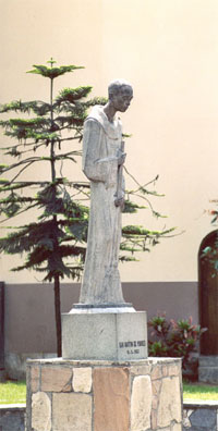 Statue of St. Martin at the Holy Rosary Convent in Lima