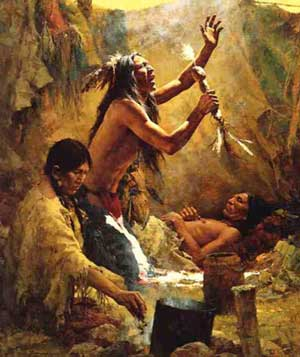 Cheyenne Medicine Man by Howard Terpning