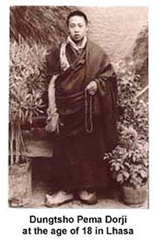 Dungtsho Pema Dorji at the age of 18
