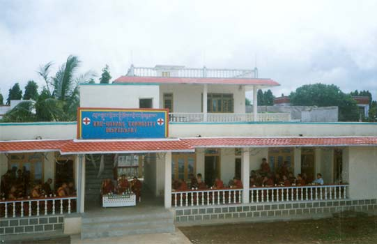 Exterior of Drepung Dispensary