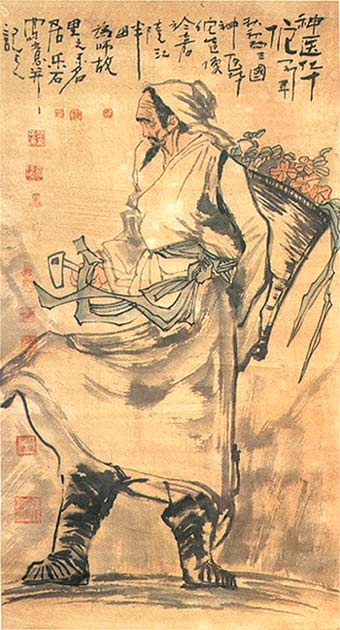 Painting of Hua Tuo, published in Medicine in China: Historical Artifacts and Images by Paul Unschuld.