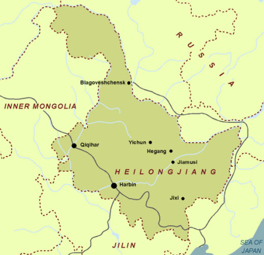 Map of Heilongjiang Province