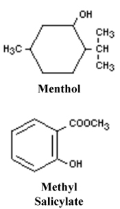 Menthol and methyl salicylate